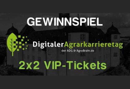 2×2 VIP-Tickets für den 1. Digitalen Agrarkarrieretag gewinnen!